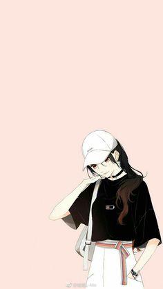 49 Ideas For Wall Paper Cute Iphone Kawaii People Cool Anime Girl, Pretty Anime Girl, Beautiful Anime Girl, Kawaii Anime Girl, Anime Art Girl, Cute Girl Wallpaper, Cartoon Wallpaper, Graphic Wallpaper, Girl Cartoon