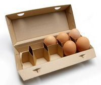 Novel egg box based on cardboard offers green benefits - Farmers Weekly Packaging Nets, Egg Packaging, Food Packaging Design, Packaging Design Inspiration, Vegetable Packaging, Egg Stamp, New Egg, Cardboard Design, Egg Drop