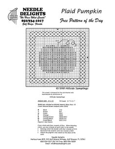 Ribbonwood Cottage: Fall Nesting, Free Vintage Pumpkin printable & Patterns; cute pattern with color key and will stitch up quickly.
