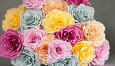Offbeat paper flower wedding roses by Robot In Bloom