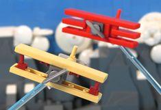 The Red Baron flies again Fokker Dr1, Lego Plane, Lego Books, Lego Ww2, Military Videos, Micro Lego, Lego Builder, Lego Military, Spaceship Concept