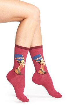 HOT SOX 'Nefertiti' Crew Socks available at #Nordstrom