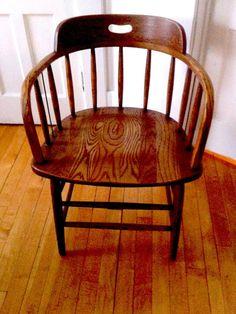 Captain or Firehouse 1895 Antique Chair Basement ideas