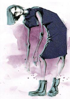 #photoshop #fashion #illustration by Lara Wolf