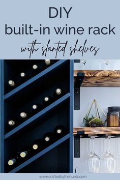 Wine Rack Shelf, Built In Wine Rack, Wine Rack Cabinet, Wine Shelves, Wine Rack Wall, Wine Wall, Wine Storage, Wine Racks, Pot Racks