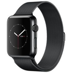 Apple Watch - 42mm Space Black Stainless Steel Case with Space Black Milanese…