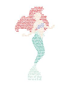 Princess Ariel in Text Wall Art - Disney Princess Art - The Little Mermaid - Part of Your World