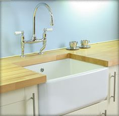 Clean lines: Butlers Sink and taps for utility area/mud room.