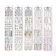 PUEEN Nail Art Water Tattoo Sticker Collection WM2 - 30 Packs All Different Designs (Over 600 Stickers) Glitter Skull Rose Heart Butterfly Sun Glass Bikini Nails Decal Decorations-BH000161 *** Click image for more details. (Note:Amazon affiliate link)