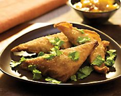 Vegetable and Blue Samosas with Castello® Noble Blue Cheese #entree #bluecheese #recipe