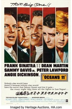 "Movie Posters:Crime, Ocean's 11 (Warner Brothers, 1960). Angie Dickinson Autographed OneSheet (27"" X 41"").. ..."