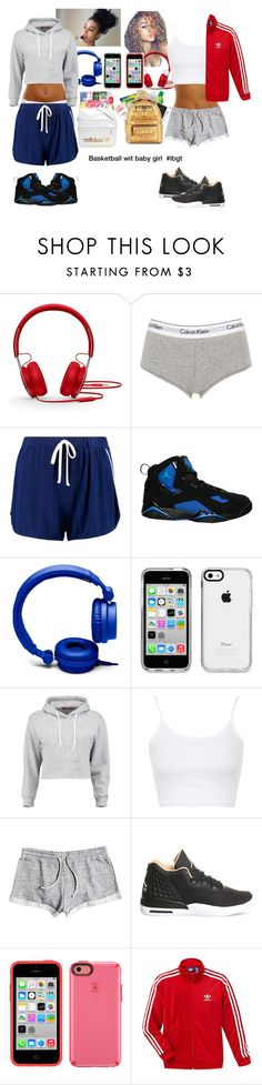 """""""Basketball with gf"""" by xxkemaraxx on Polyvore featuring Beats by Dr. Dre, Calvin Klein Underwear, Boohoo, NIKE, Forever 21, Speck, Topshop, Roxy and adidas"""