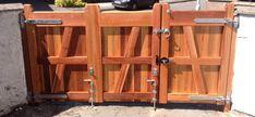 1/2 Bi-fold Flat top Driveway Wooden Gates.