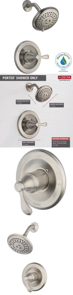 Other Home Plumbing and Fixtures 3191: Delta Porter 142984-Bn-A - Single-Handle 3-Spray Shower Faucet - Brushed Nickel -> BUY IT NOW ONLY: $89.99 on eBay!