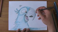 How to draw Blue from Rio! Actually pretty easy! Cute Animal Drawings, Cartoon Drawings, Cute Drawings, Pencil Drawings, Rio 2, Anime, Character Drawing, Drawing For Kids, Disney Art