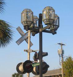 Lantern and Crossing Lights at Fernandina 3 by CathyLindseyART, $7.95