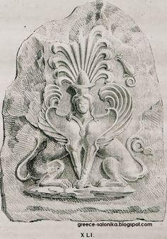 EPIRUS TV NEWS: Οι ακέφαλες Σφίγγες και οι Καρυάτιδες της Αμφίπολη... Macedonia, Places To Visit, Lion Sculpture, Statue, Blue, Sculpture, Fruit Salads, Places Worth Visiting