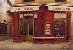 """""""Au Caid"""", Paris, now in 24, Bd. Mont Saint-Michel."""
