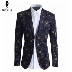 Find More Suit Jackets Information about Troilus 2016 Velvet Blazer Men High Quality Blazer Slim Fit Suit Jacket Fashion Luxury Men Printed Blazer Homme Party Wedding,High Quality wedding dress lace jacket,China wedding jacket Suppliers, Cheap jacketed pipe from Troilus Flagship Store on Aliexpress.com
