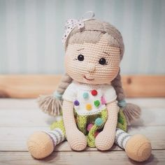 Irresistible Crochet a Doll Ideas. Radiant Crochet a Doll Ideas. Amigurumi Doll, Amigurumi Patterns, Doll Patterns, Crochet Patterns, Crochet Doll Clothes, Knitted Dolls, Crochet Dolls, Cute Crochet, Crochet Baby