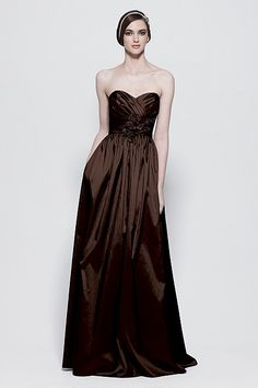 Elegant, rich chocolate brown for your bridesmaids.