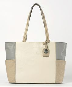 Eggnog & Frappe Color Block Gracie Tote by Jim Shore #zulily #zulilyfinds