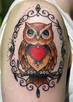 Owl tattoo Traditional