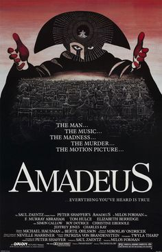 Original onesheet designed by artist Peter Sis for one of my favorite movies of all-time, Amadeus.