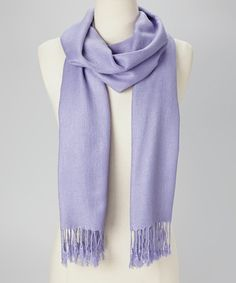 Take a look at this Periwinkle Solid Pashmina-Silk Blend Scarf by Italmode on #zulily today!