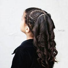39 ideas hair ideas for girls hairdos Little Girl Braid Hairstyles, Short Hair Updo, Short Hair Styles, Toddler Hairstyles, Braid Styles, Sleek Hairstyles, Pretty Hairstyles, Braided Hairstyles, Hairstyles Videos
