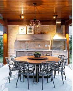 Likes, 34 Comments - By Mamãe Cantelli ? Interior Desing, Interior Exterior, Rooftop Terrace Design, Barbecue Area, Pergola Patio, Gazebo, Decoration, My Dream Home, Sweet Home
