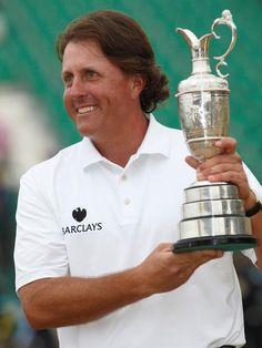 Phil Mickelson wins 2013 British Open at Scotland's Muirfield golf links.