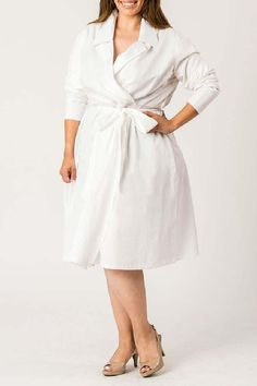 Looking for womens plus size wedding dresses? the perfect plus size dresses at CurveGirl for any occasion, including wedding, party and maxi dresses in all colors. Belted Dress, Poplin, Plus Size Dresses, Work Wear, Plus Size Fashion, Fashion Models, Wrap Dress, Sexy Women, Shirt Dress
