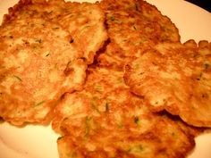 zucchini pancakes. Hmmm. Wonder if I can pass with the kids.