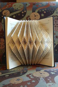 Folded book art diamond bracelet design recycled book by pobop