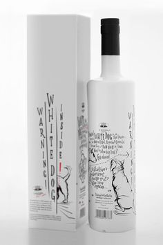 Packaging design for 'White Dog' single malt spirits by Martyna Ząbecka