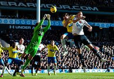 Tim Krul makes one of a number of fine saves and interceptions as Tottenham pile on the pressure