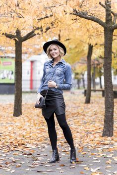 denim and leather Caroline Berg Eriksen waysify