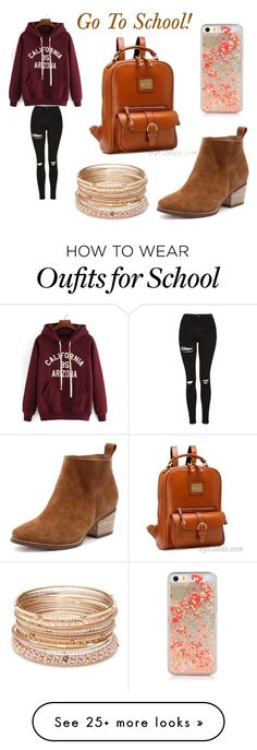 """Go to school style"" by bygoods on Polyvore featuring Topshop and Red Camel"
