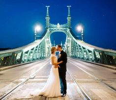 Peter Herman Photography, Hungary, Budapest, at night, wedding, bridge