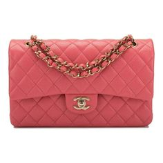 579ab62782f3 The Chanel Classic Flap Quilted Caviar Medium Shiny Classic Double Pink  Leather Cross Body Bag is a top 10 member favorite on Tradesy.