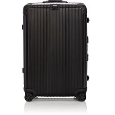 """Rimowa Women's Topas Stealth 29"""" Multiwheel® Suitcase featuring polyvore, women's fashion, bags, luggage and black"""