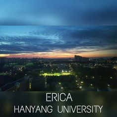 night view of Hanyang university from dorm what a nice view!! #campus #night view #university