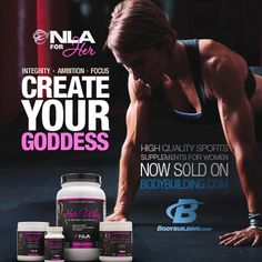 NLA for Her sports supplements for women now available on the largest online retail outlet, Bodybuilding.com!  Find all of our high quality, safe sports supplements for her at the cheapest price and fastest shipping:  http://www.bodybuilding.com/store/nla-for-her.html  #fitness #fashion #healthy #weightloss