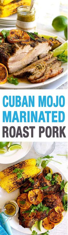 Cuban Mojo Marinated Pork - the actual recipe from the Chef movie, created by Roy Choi. Easy to make, incredible flavour, virtually foolproof. This is the Mojo Marinated Roast Pork from the John Favreau movie Cuban Mojo Marinated Pork, Mojo Pork, Cuban Pork, Cuban Recipes, Pork Recipes, Dinner Recipes, Cooking Recipes, Comida Boricua, Onigirazu