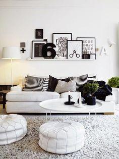 Ideias para uma decoração Black & White, black&white decoration ideas