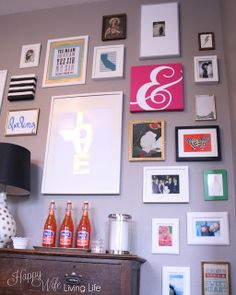 Happy Wife Living Life  Dining Room Tour with a Kate Spade Inspired Gallery Wall & Kate Spade Inspired Gallery Wall -- Colorful preppy fun and most ...
