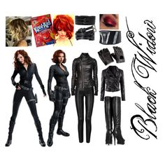 """""""Black Widow Halloween Costume"""" by mikymou5 ❤ liked on Polyvore featuring Plein Sud, Rick Owens, H&M, DKNY and Prabal Gurung"""