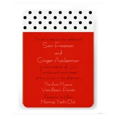 Colorful Polka Dots casual wedding invitation line - available in a variety of colors