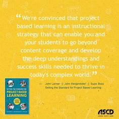 How do you prepare students to develop a deeper knowledge of the real world, so they are better prepared for college, careers, and citizenship? Here's a book that explains how to implement project based learning in your classrooms.